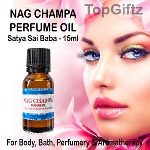 Satya Sai Baba Nag Champa Body Bath Aromatherapy Perfume Oil Exotic Sexy 15ml