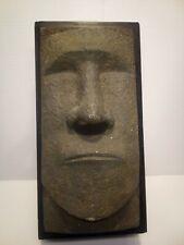 Tiki Easter Island Tissue Box Cover Faux Stone Kleenex Dispenser, by Rotary Hero