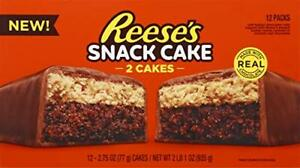 Reeses Snack Cake, 2 Cakes Per Pack (2.75 oz), 1 Box (12 Count)