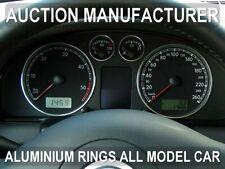 VW T5 Transporter 03-10 Polished Aluminium Dial Surrounds Speedo Rings x4