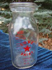 Vintage - Lone Star Dairy - Third Quart - Milk Bottle - Auburn California - L@@K