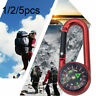 Hiking Camping Plastic Compass Keychain Multifunctional Tools Carabiner Buckle