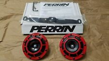 Pair Hella Supertone Horns with Perrin Mounting Bracket. 2015+ WRX/STI
