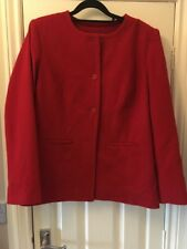 Ladies red Short length coat by Daxon size 12 Wool Blend Excellent Condition
