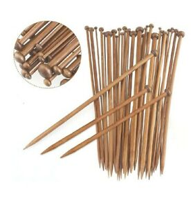 Bamboo Knitting Needles, a pair,Carbonized Bamboo Knitting Needles Wooden Single