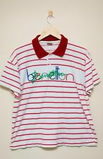 VINTAGE BENETTON MADE IN ITALY SIZE MEDIUM STRIPES UNITED COLOR T-SHIRTS