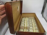 Prop Money Filler Packs Money In A Trunk.$1M (100 Blocks) 1920s Gangster Style