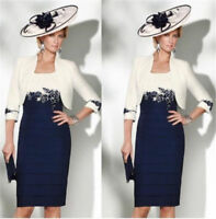 2018 Navy Blue Free Jacket Mother of the Bride Dress Mother Wedding Suit Outfit