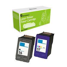 2 Pack Compatible C6656 + C6657 Ink Cartridge For HP 56 57 Deskjet 3550 4110