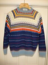 Charles Wolf Norway mens Knitted Sweater sz M Wool MothProof ~