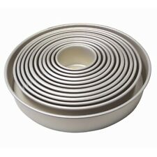 """Silver Anodised ESSE branded 12/"""" x 1.5/"""" Sandwich Pan with Loose Base NEW"""