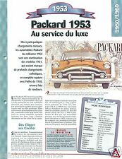 Packard Patrician Serie 2606 Luxe 8 Cyl. 1953 USA Car Auto Retro FICHE FRANCE