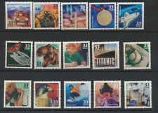 3191 a-o 1990's Celebrate The Century 15 Vals Mint NH Singles Cplt Retail $24.50