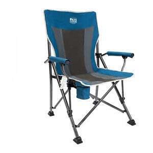 Timber Ridge Outdoor Portable Folding Tailgate Beach Camping Lounge Chair, Blue