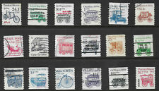 US Stamps Mixed Lot of 18 Different Used Transportation Coils