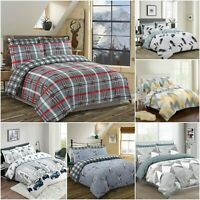 200TC LUXURY PRINTED DUVET COVER 100% COTTON QUILT BEDDING SET DOUBLE SUPER KING