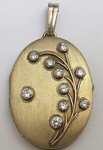 Gold Locket Diamond Pendant