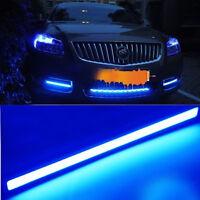 2x Waterproof Universal Car COB LED Daytime Running DRL Strip Fog Lamp Light 12V