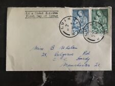 1954 Limerick Ireland First Day Cover FDC To Manchester England