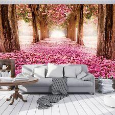 Fototapete Wald Natur Rose Baum Allee Blumen Wohnzimmer Tapete Wandtapete 27