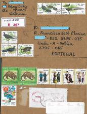 VIETNAM  ✱ NICE MULTI STAMP REGISTERED COVER  ✱ BIRDS