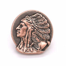 "Left Facing Chief Head Concho Antique Copper 1-1/4"" 3665-10 by Stecksstore"