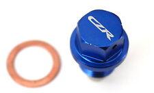 CZRRACING MAGNETIC OIL PAN DRAIN PLUG BOLT KIT W/WASHER BLUE M14x1.5 HONDA