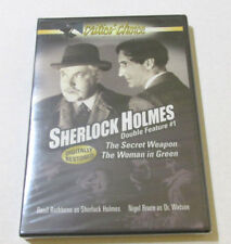 Sherlock Holmes Double Feature The Secret Weapon, The Woman in Green, New Sealed
