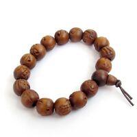 Jujube Wood Buddha Word Beads Tibetan Buddhist Prayer Bracelet Mala