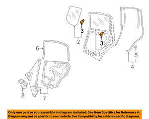 VW VOLKSWAGEN OEM 99-18 Jetta Glass-Rear Door-Moveable Glass Pin 6N0839511