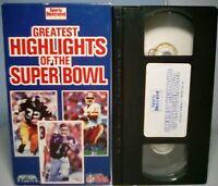 Sports Illustrated Greatest Highlights of the Super Bowl VHS 1991 NFL Joe Namath