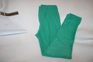 Women Lularoe Solid Emerald Green Leggings Size OS