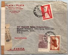 GP GOLDPATH: ARGENTINA COVER 1942 REGISTERED LETTER AIR MAIL _CV595_P07
