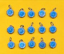 B232) 15 blue enamel charm catholic medals - St Rita of CASCIA Religious medal