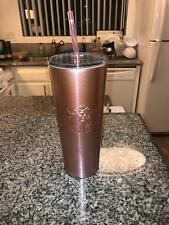 New 2018 Starbucks Rose Gold Pink Glitter Cold Cup Stainless Holiday Tumbler
