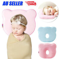 Baby Infant Newborn Memory Foam Bear Prevent Flat Head Neck Support Cot Pillow