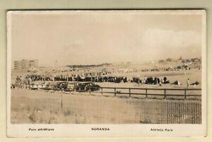 Baseball Stadium Athletic Park Noranda, Quebec, CANADA c.1940's RPPC