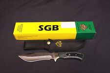 New Puma SGB German Steel Nomad Fixed Blade SAW Hunting Knife Micarta Handle
