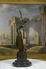 """signed: D.H.Chiparus,  bronze art deco Dancer Egyptian Dancer """"Footsteps"""""""