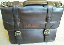 Men's Brown Leather Messenger Shoulder Bags Business Work Briefcase Laptop Bag
