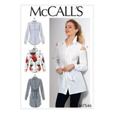 McCall Cut Shirt Sewing Patterns