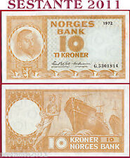 NORWAY / NORVEGIA - 10 KRONER 1972 - Prefix G   - P 31f  -   SPL+ / XF