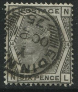 1873 6d grey Plate14 lettered NL struck by a Edinburgh Newspaper Branch CDS (39)