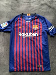 FC Barcelona Nike Youth 2018 2019 Home Jersey Size L