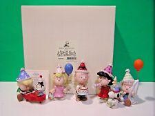 Lenox Peanuts Birthday Party New Box w/Coa Snoopy Linus Lucy Sally Charlie Brown
