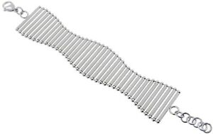S.Michael Designs Stainless Steel Multi-Bar Curved Bracelet