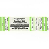 RICOCHET KITCHEN Concert Ticket Stub MINNEAPOLIS MN 9/25/99 FIRST AVENUE Rare