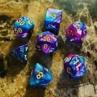 Neon Geek 7 Dice RPG Set Polyhedral DND Dungeons Dragons Pathfinder