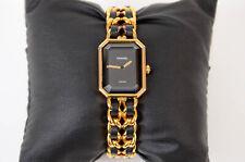 Chanel Premiere black 18k yellow gold plated chain quartz ladies watch $4000