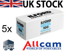 5 Pack: Ilford Delta 100 120 Size 100 ISO Black & White Negative Film